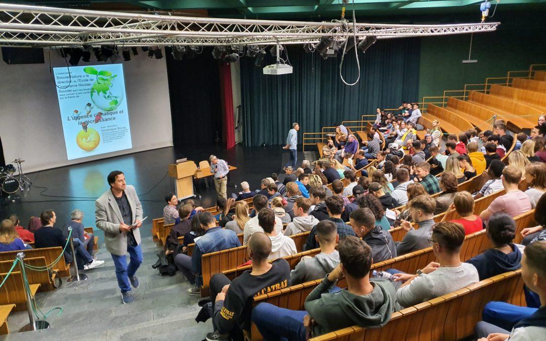Conférence sur l'urgence climatique et la décroissance